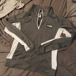 VS pink ultimate half zip sweatshirt